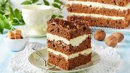 Фото рецепта Шоколадно-ореховый торт