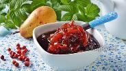 Фото рецепта Варенье из брусники с грушами