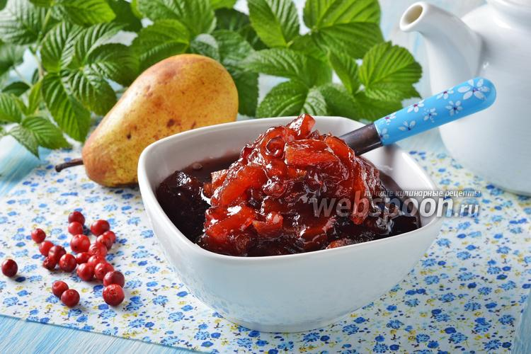 Фото Варенье из брусники с грушами