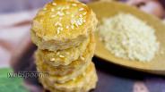 Фото рецепта Французский крекер с кунжутом