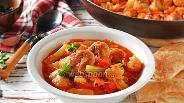 Фото рецепта Овощное рагу с фрикадельками