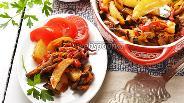 Фото рецепта Картофель с перцем и баклажанами в духовке