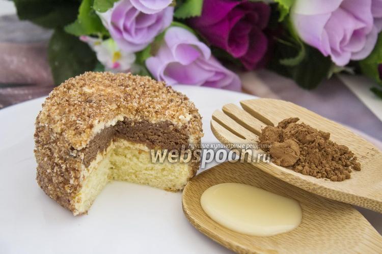 Фото Шоколадно-ванильные пирожные «Ёжики»