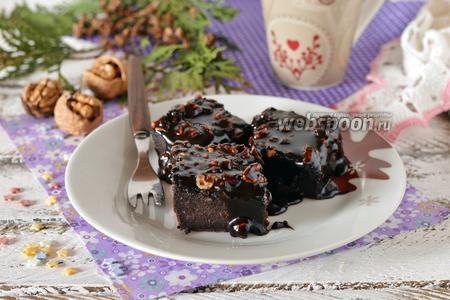 Шоколадный пирог с шоколадной заливкой