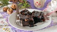 Фото рецепта Шоколадный пирог с шоколадной заливкой