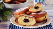 Фото рецепта Пончики с шоколадной начинкой