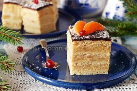 Яблочно-песочный торт
