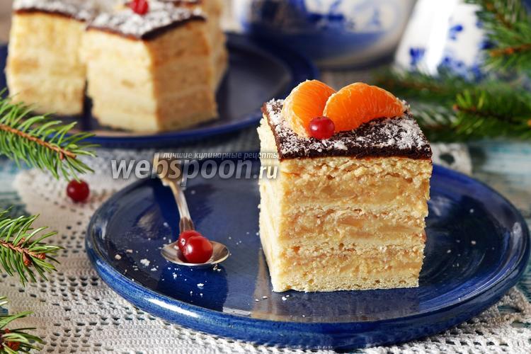 Фото Яблочно-песочный торт