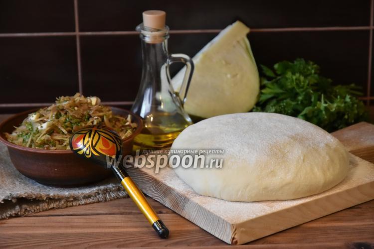 Фото Начинка для пирожков с жареной капустой и яйцом