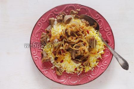 Но самый лучший гарнир для этого блюда это рис. Это одно из самых вкусных сочетаний — рис, мясо и барбарис...))