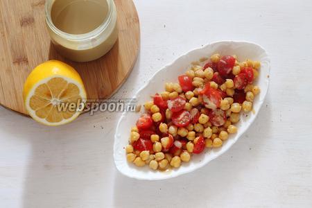 Если будете подавать в другой посуде, то переложите в неё. В самом конце заправляем по вкусу тахини (1 ст. л.) и сразу же подаём. Быстро, вкусно и сытно!)