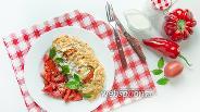 Фото рецепта Куриное филе с томатами и болгарским перцем, запечённое в тесте фило