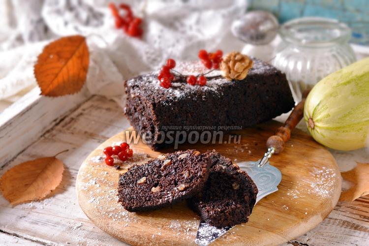 Фото Шоколадный кекс из кабачков