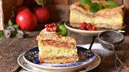 Фото рецепта Насыпной пирог с творогом и яблоками