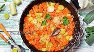 Фото рецепта Тушёный лук-порей