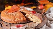 Фото рецепта Шарлотка с яблоками и орехами
