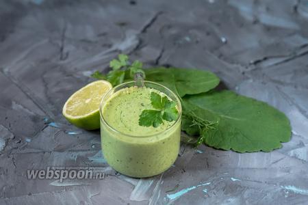 Постный зелёный соус а-ля майонез