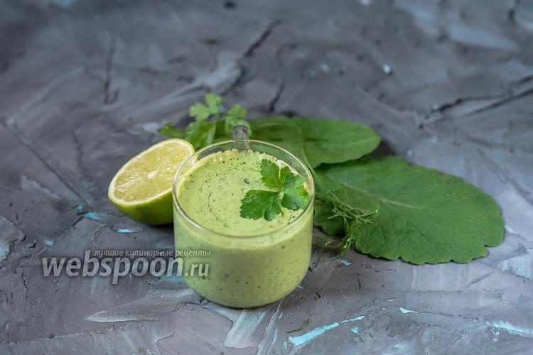 Фото Постный зелёный соус а-ля майонез