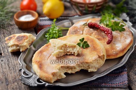 Грузинский лаваш на сковороде