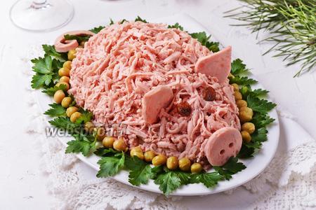 Салат «Свинья» видео рецепт