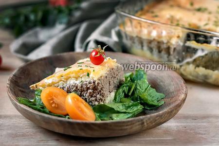 Картофельное «облако» с сочной мясной начинкой и сыром