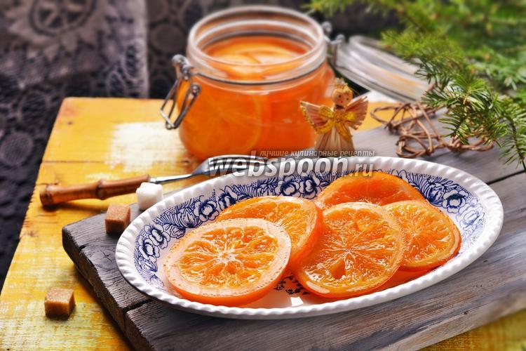 Фото Карамелизированные апельсины