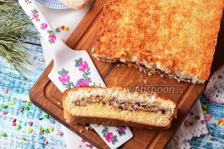 Песочный пирог с бананом