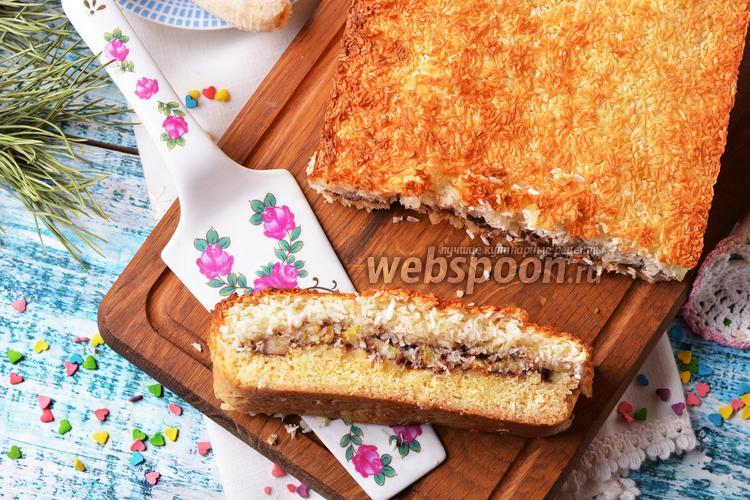Фото Песочный пирог с бананом