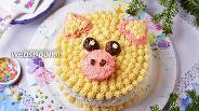 Фото рецепта Торт «Свинья»