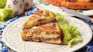 Фото рецепта Пирог-перевёртыш с грибами и фаршем