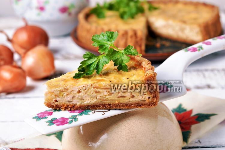 Фото Луковый пирог в мультиварке