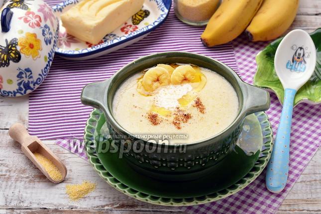 Фото Кукурузная каша с бананом