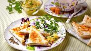 Фото рецепта Лаваш с сыром на сковороде