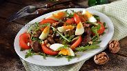 Фото рецепта Салат из печени индейки