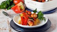 Фото рецепта Картошка с сосисками в духовке