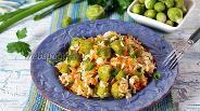 Фото рецепта Брюссельская капуста с рисом