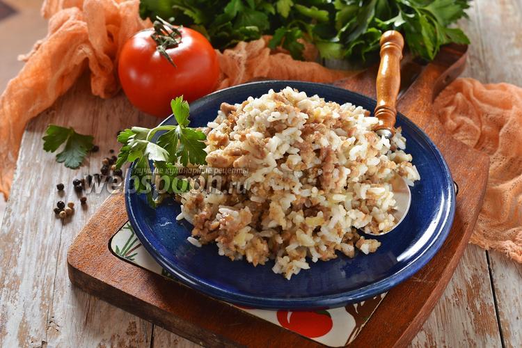 Фото Начинка для пирожков с мясом и рисом