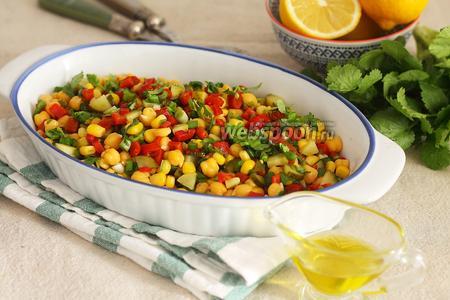 Пёстрый салат с нутом