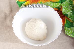 480 грамм муки предварительно просеять. В воде (150 мл) развести уксус яблочный или винный 6% (2 ст. л.) и соль (1/3 ч. л.), влить в муку и начать замешивать тесто. Далее добавить ещё необходимое количество воды (50-70 мл) в зависимости от свойств муки. Замесить крутое, эластичное тесто, не липнущее к рукам. Накрыть плёнкой или положить в мешочек и оставить для отдыха минут на 20-30.