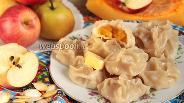 Фото рецепта Манты с фруктово-тыквенной начинкой