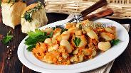 Фото рецепта Постный салат из фасоли с грибами