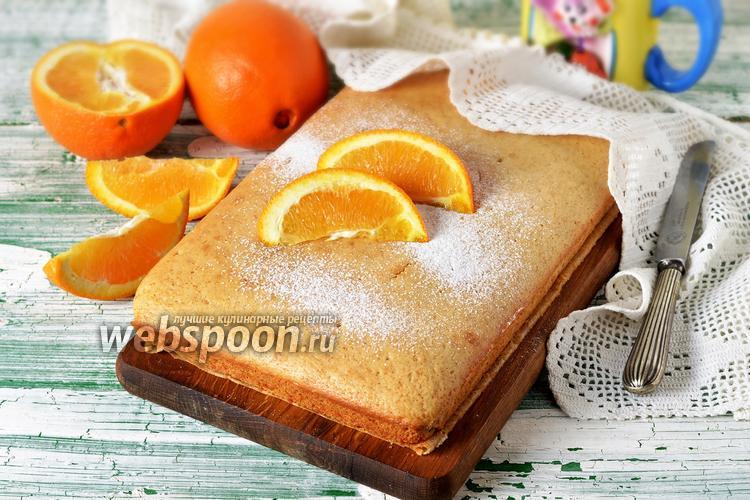 Фото Постный апельсиновый бисквит
