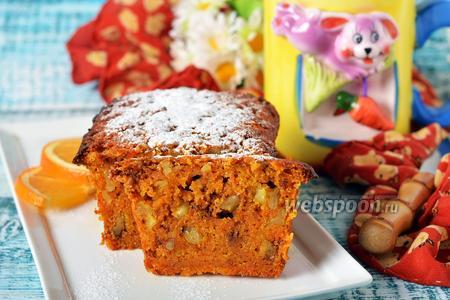 Морковный кекс без яиц