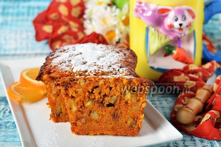 Фото Морковный кекс без яиц
