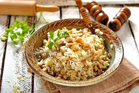 Начинка для пирожков с грибами и рисом
