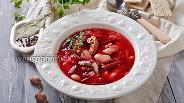 Фото рецепта Борщ с килькой в томате