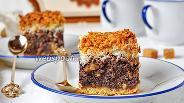 Фото рецепта Маково-кокосовый торт