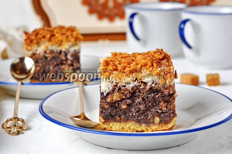 Фото Маково-кокосовый торт