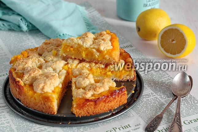 Фото Лимонно-апельсиновый пирог из сметанного теста