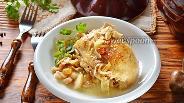 Фото рецепта Жаркое из курицы с грибами и изюмом